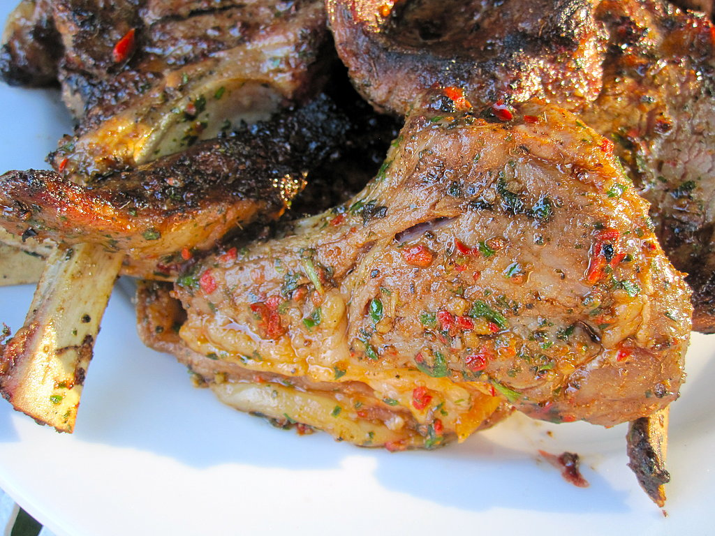 Grilled Lamb Chops With Garlic, Chiles, and Anchovies