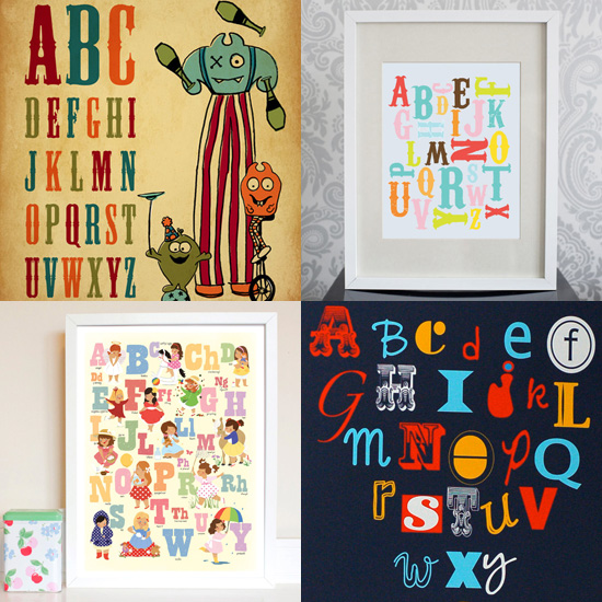 Alphabet Prints For the Nursery