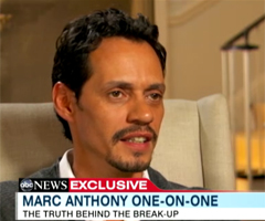 Video Preview of Marc Anthony Interview Talking About Split From Jennifer Lopez on Nightline
