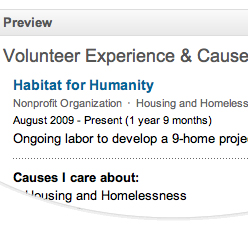 adding volunteer work to linkedin popsugar smart living