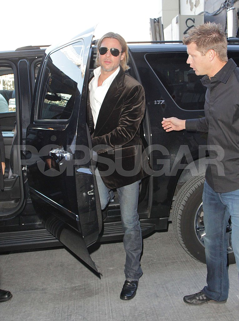 Brad stepped out of his SUV.
