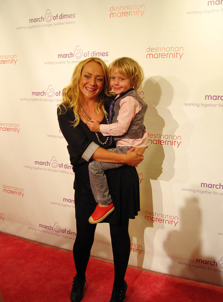 Comedian and mom of two Nicole Sullivan made a surprise appearance at Destination Maternity's FNO event — with her eldest son, Dashel Pierce, by her side. Source: Nicole Abbott