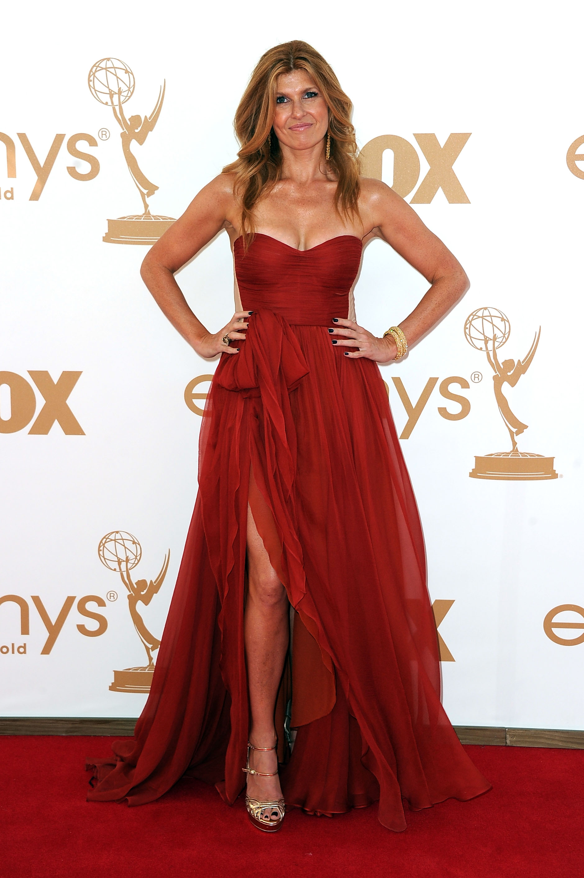 Connie Britton at the 2011 Emmys.