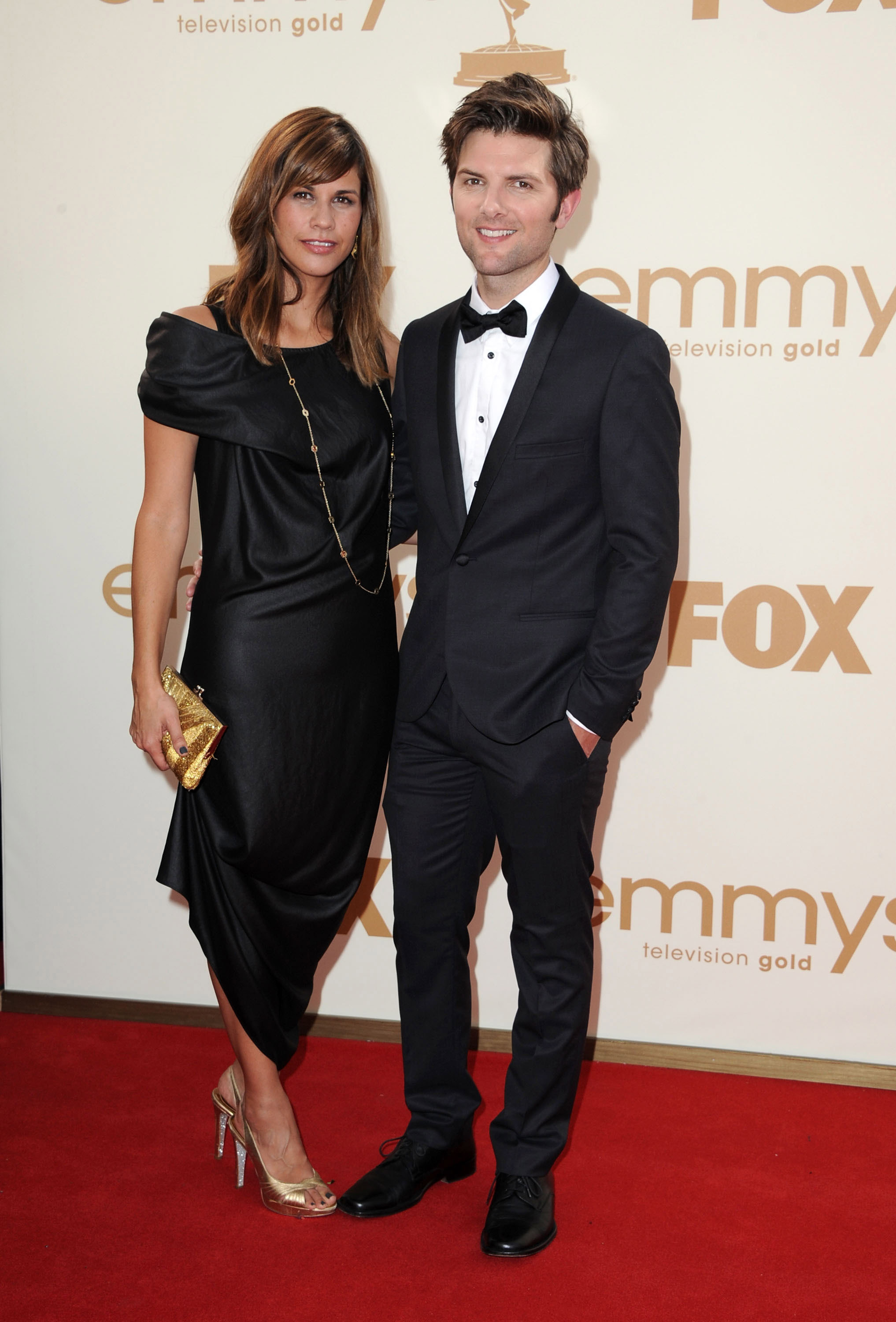 Adam Scott and Naomi Sablan | Red-Hot Couples on the Emmys ...
