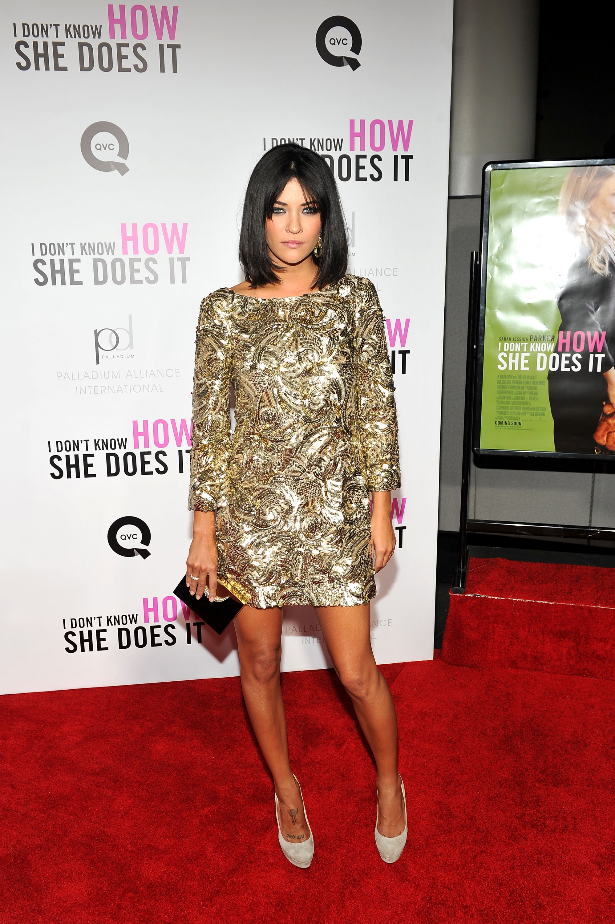 Jessica Szohr sparkled at the premiere.