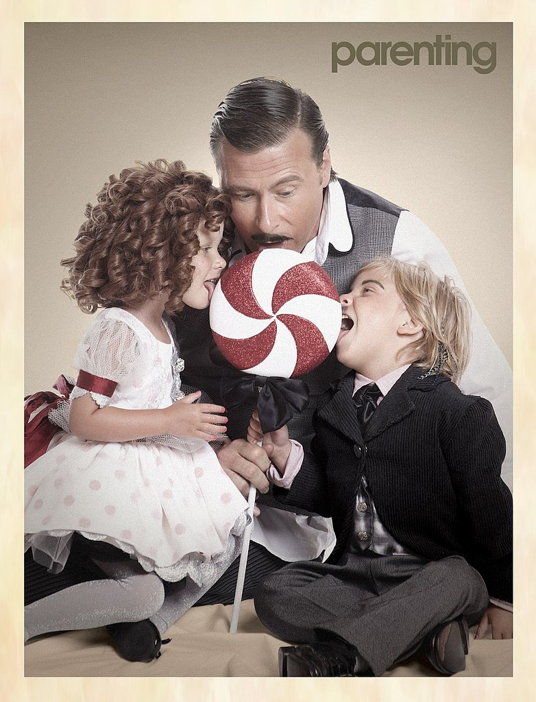 Dean McDermott With Stella and Liam in Parenting Magazine
