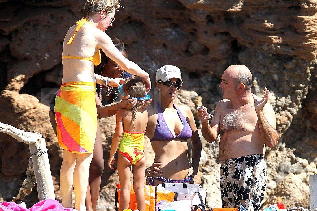 Halle Berry Wears a Sexy Bikini and Shows PDA With Olivier Martinez in Spain