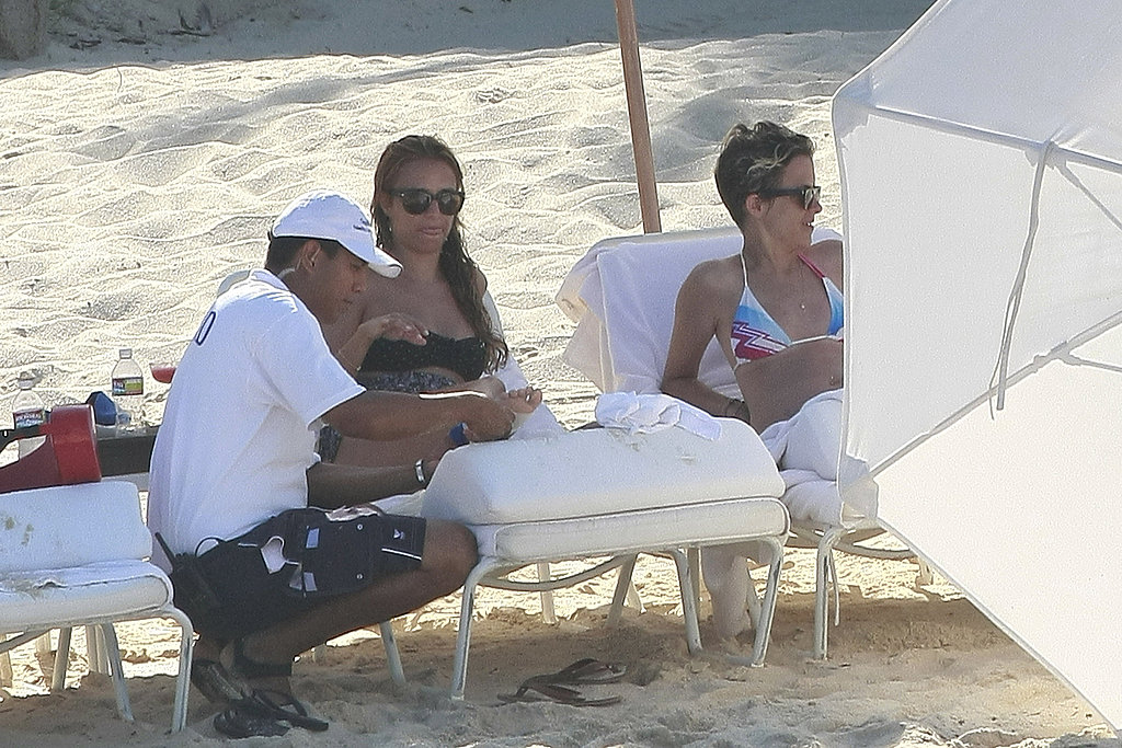 Samantha Ronson lounged by the ocean in a bikini in Cabo.