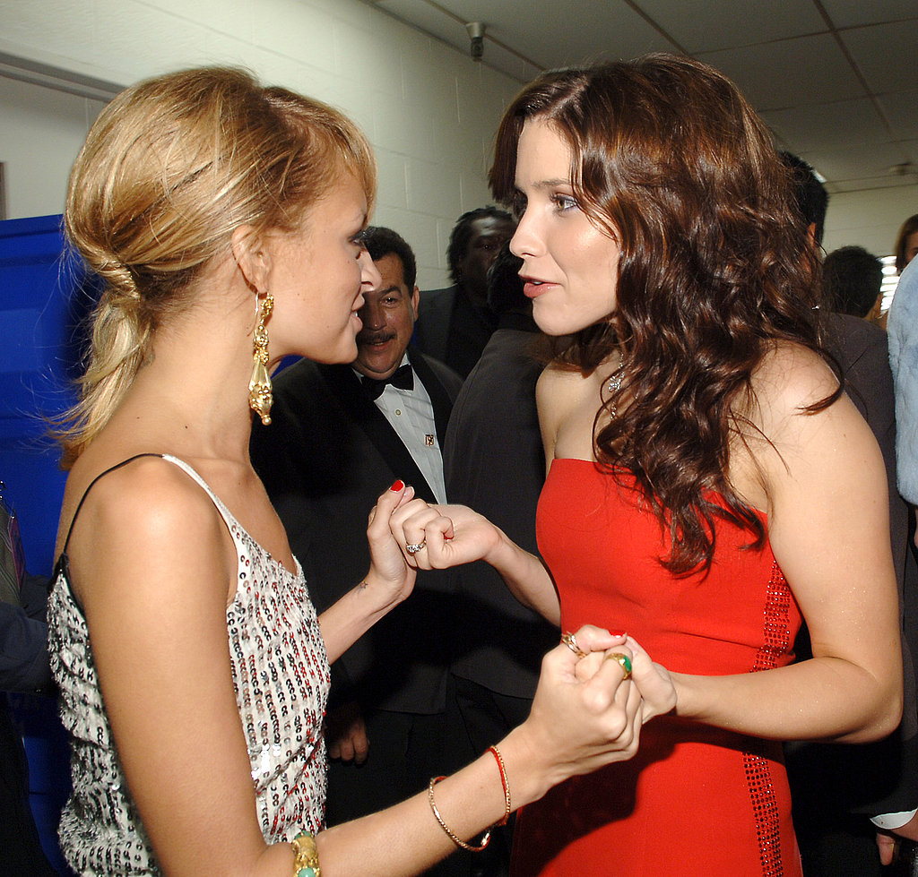 Nicole Richie stopped to chat with Sophia Bush backstage at the 13th annual Race to Erase MS in May 2006.