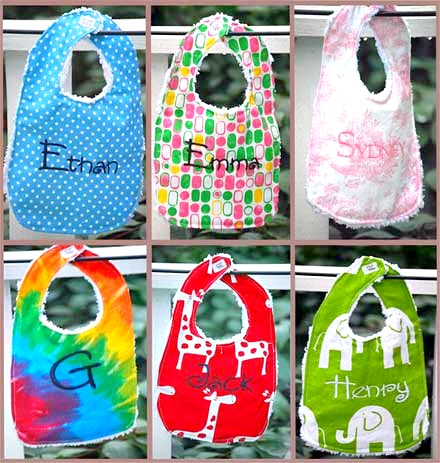 Limited time offer - $8 Personalized Baby Bibs