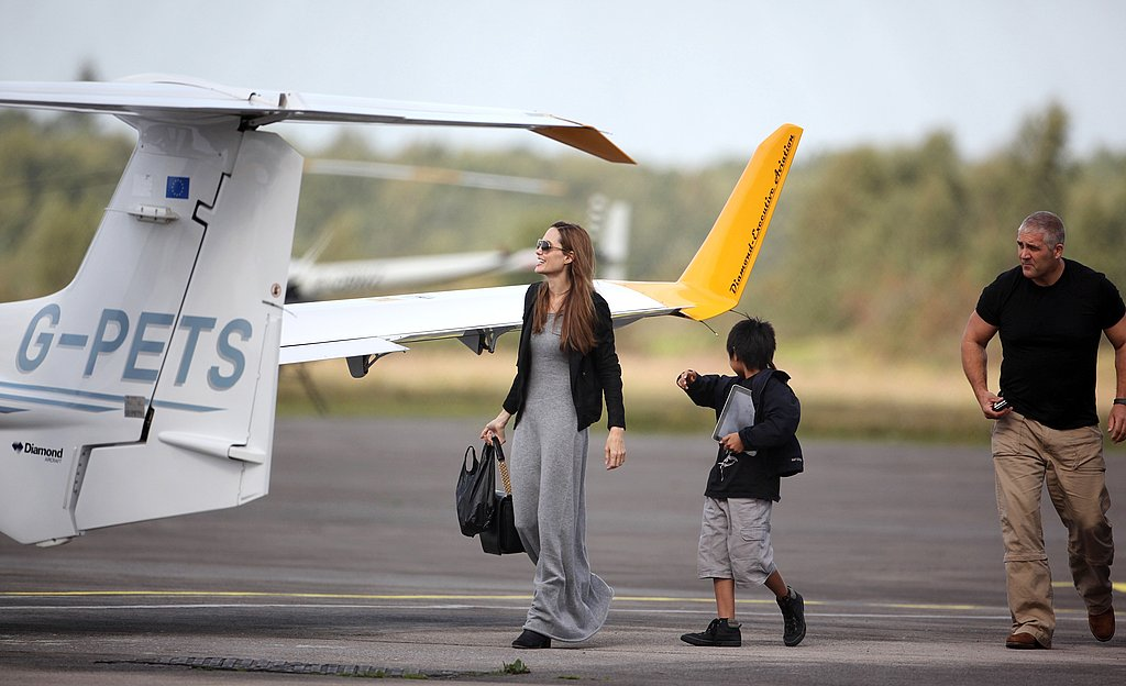 Angelina Jolie and Maddox Jolie-Pitt spend a mother-son day together.