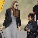Angelina Jolie and Maddox Jolie-Pitt Taking Flying Lessons in England