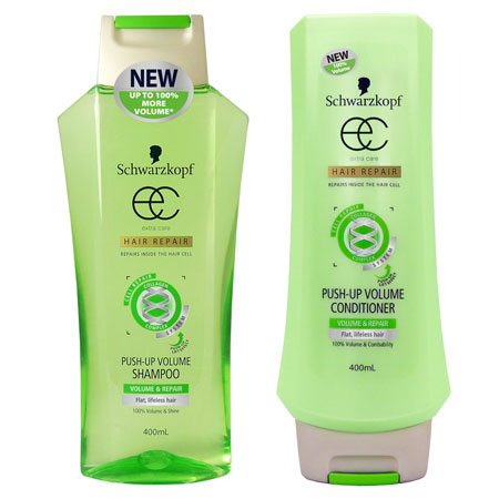 Schwarzkopf Extra Care Push-Up Volume Shampoo and Conditioner