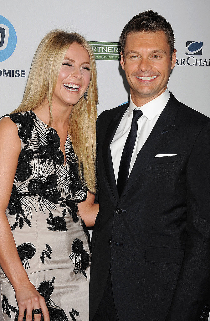 Julianne Hough and Ryan Seacrest shared a laugh at the Kodak Theatre.