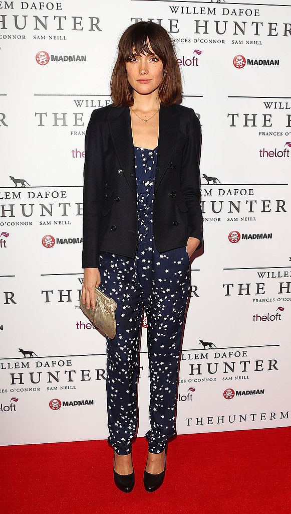 Rose Byrne posed solo at the Sydney premiere of The Hunter on Sept. 26.