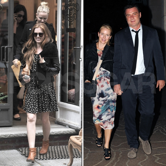 Naomi Watts Rings in Another Year With Isla Fisher and Liev Schreiber