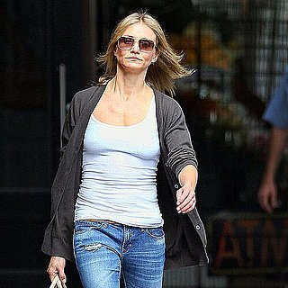 Cameron Diaz Pictures With Short Hair in NYC