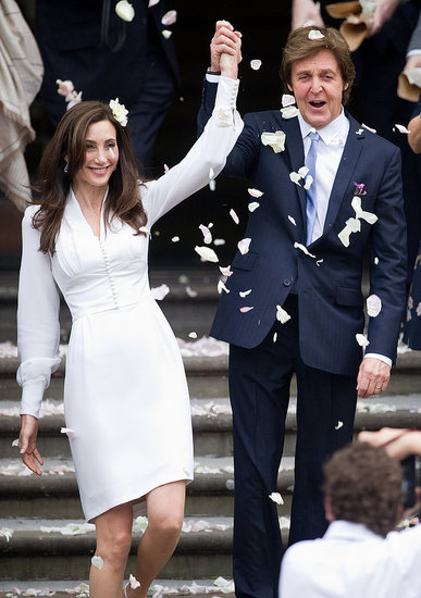 Nancy Shevell and Paul McCartney were ecstatic to be newlyweds in London.