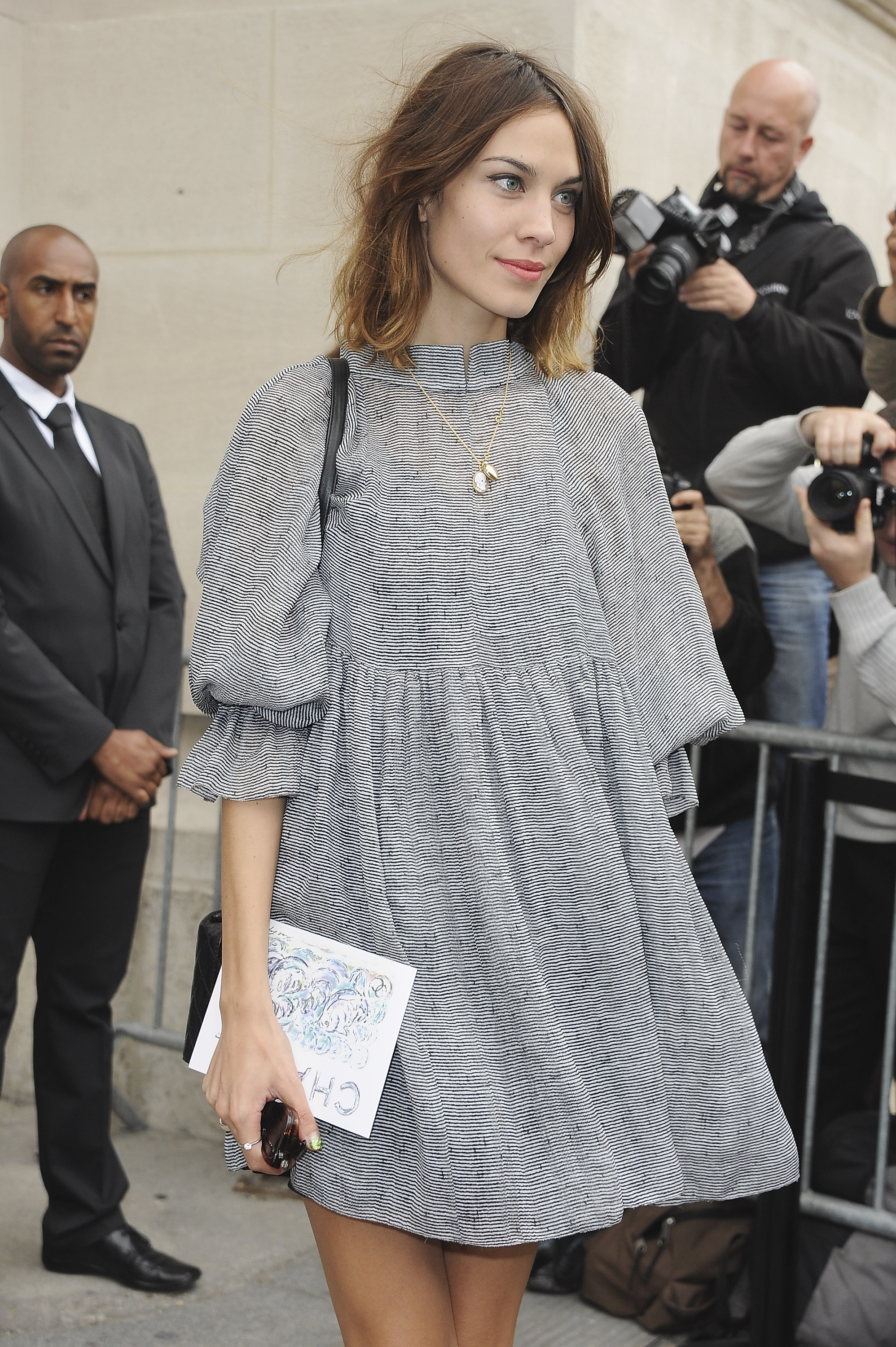 Alexa Chung at Paris Fashion Week.