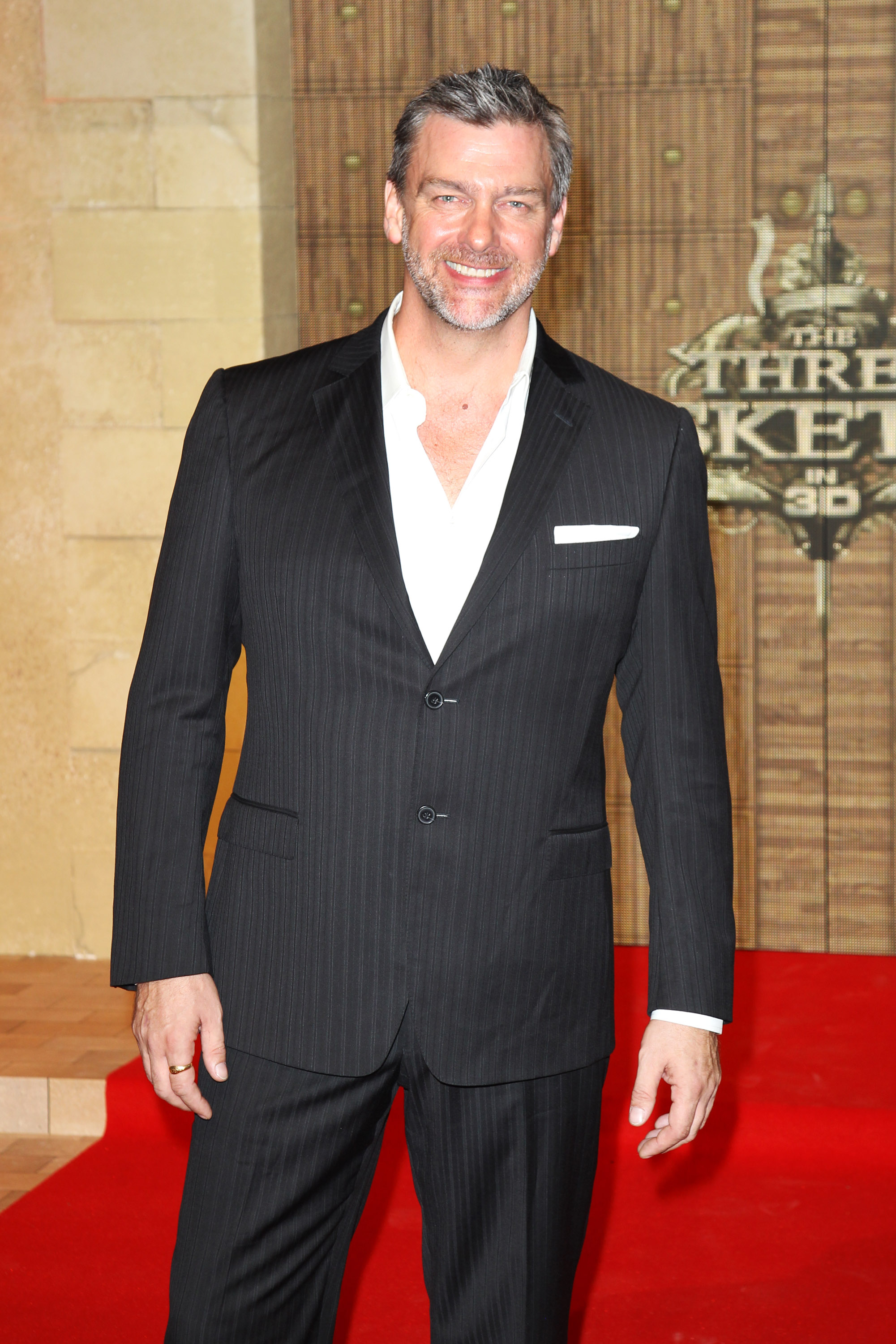 Ray Stevenson at the London premiere of The Three ...
