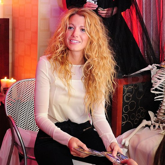 Blake's hair was curly for her latest Big Apple outing.