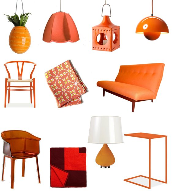 orange home decor shopping popsugar home
