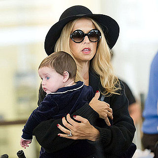 Rachel Zoe and Son Skyler Pictures at LAX After Fashion Week
