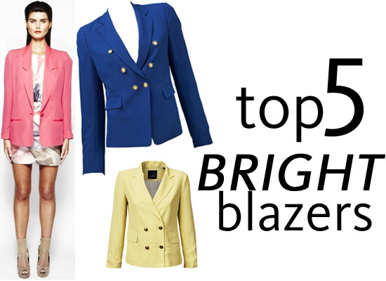 Shop the our Top Five Bright Coloured Blazers We Found Online: Dotti, Marcs, Saba, Sportsgirl and Ginger & Smart