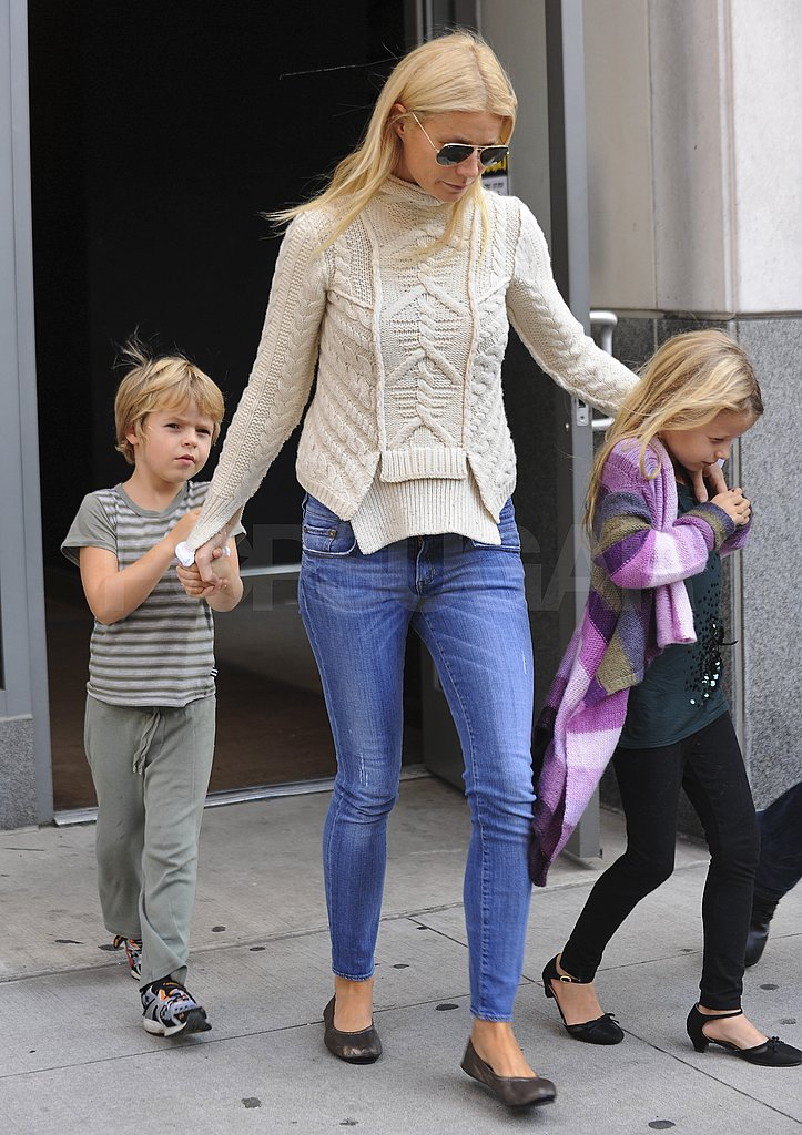 Photo of Gwyneth Paltrow & her Son  Moses Martin