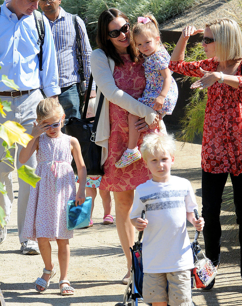 Jennifer Garner brought Seraphina and Violet to the Getty Center.