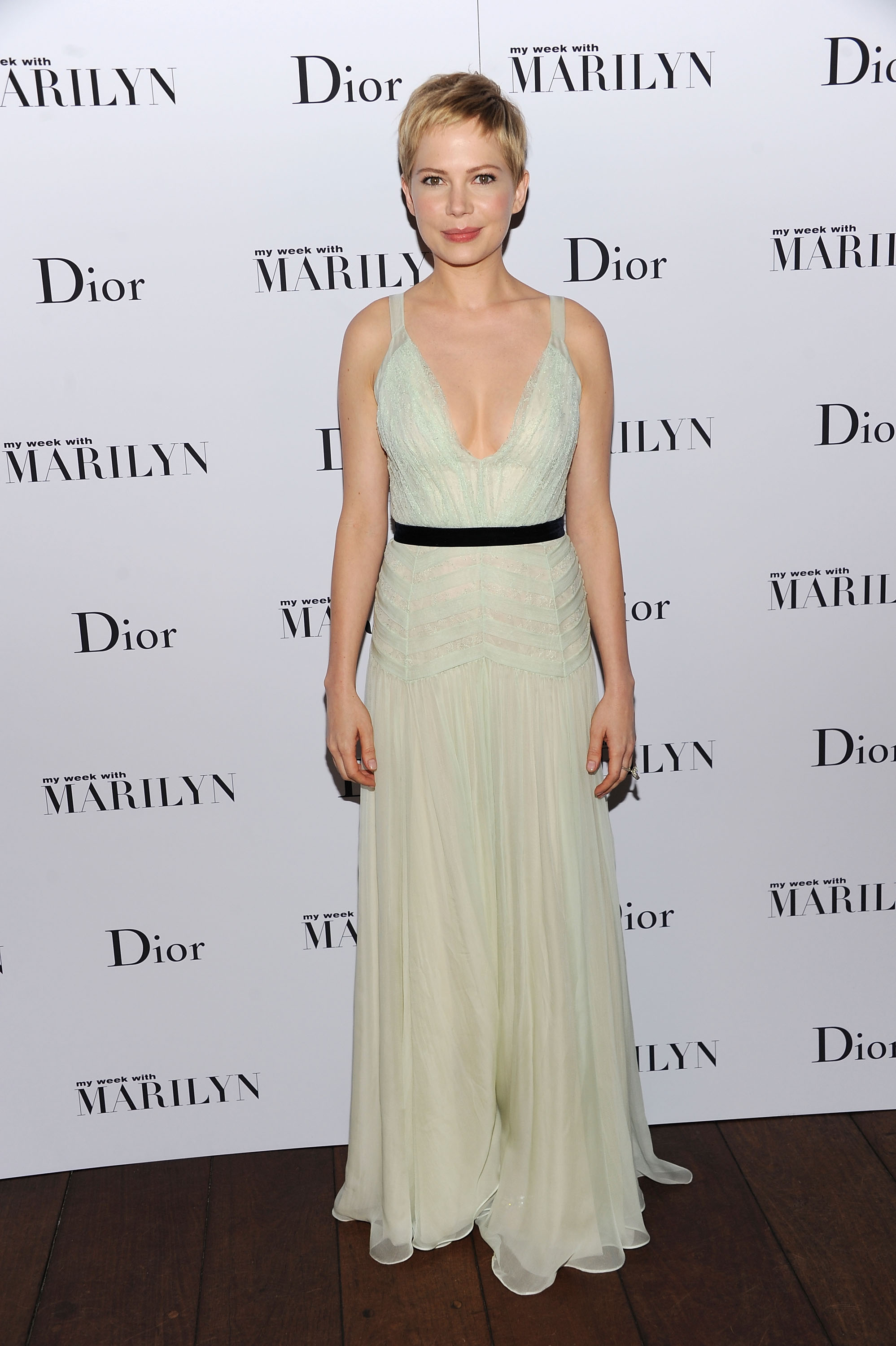 Michelle WIlliams was glowing at the afer party for My Week With Marilyn.