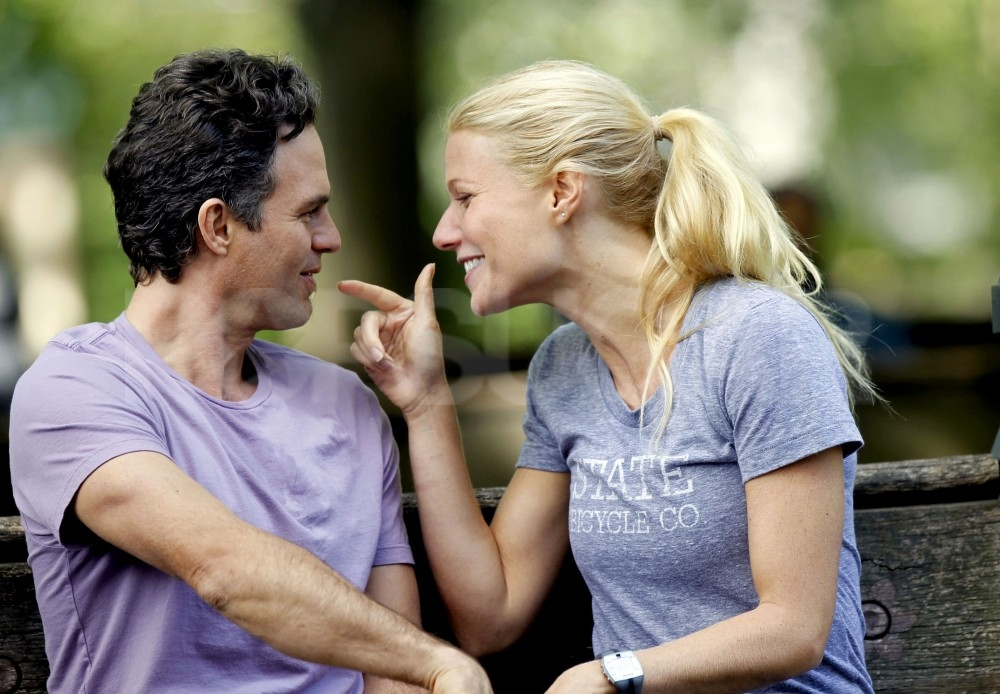 Gwyneth Paltrow teased Mark Ruffalo on the set of their new film.