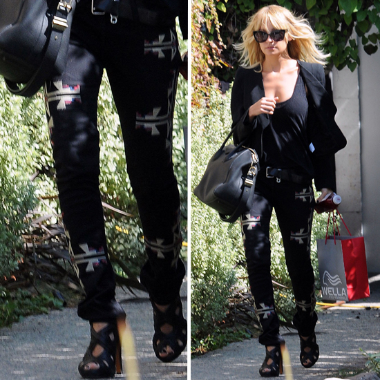 Nicole Richie Wears Isabel Marant Navajo Jeans