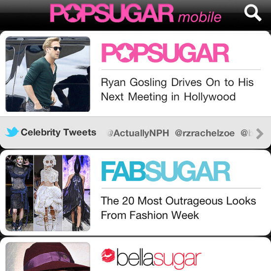 Download Our New PopSugar Mobile App Now With iOS 5 and Twitter!