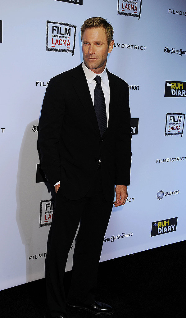 Aaron Eckhart attended The Rum Diary premiere in LA.