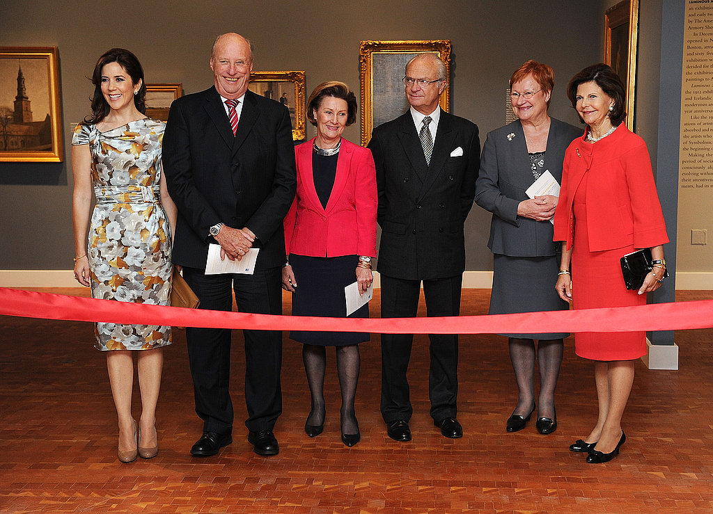 Princess Mary attends the opening of the American-Scandinavian Foundation Centennial Exhibition at Scandinavia House on Oct. 20.