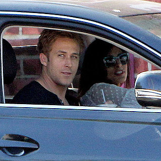 Ryan Gosling and Eva Mendes Kissing Pictures