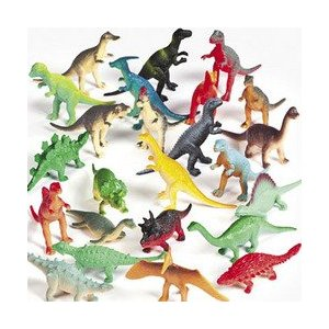 Vinyl Mini Dinosaurs — 72 count ($9)