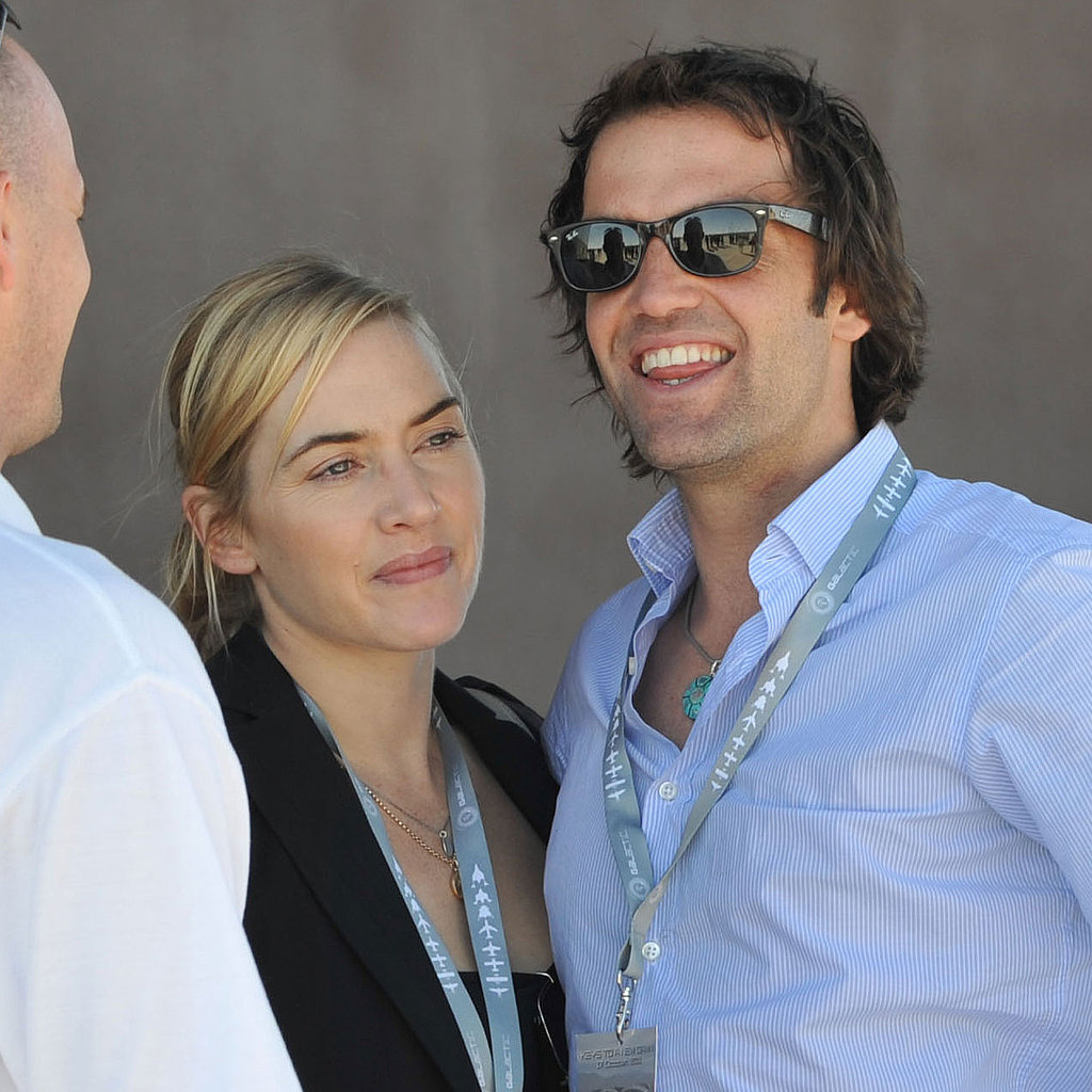 Kate Winslet snuggled up next to new boyfriend Ned Rocknroll.
