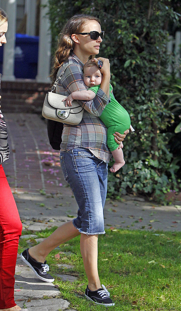 Natalie Portman Carrying Baby Aleph Millepied in LA ...
