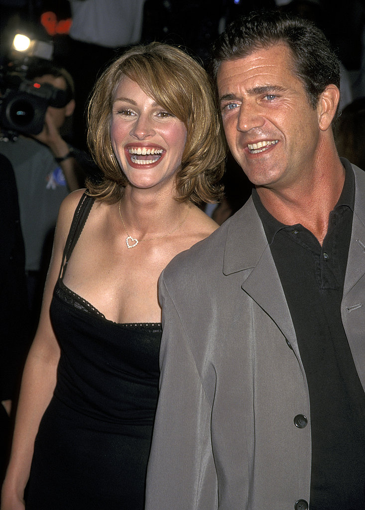 She posed with pal Mel Gibson at the Conspiracy Theory premiere in 1997.