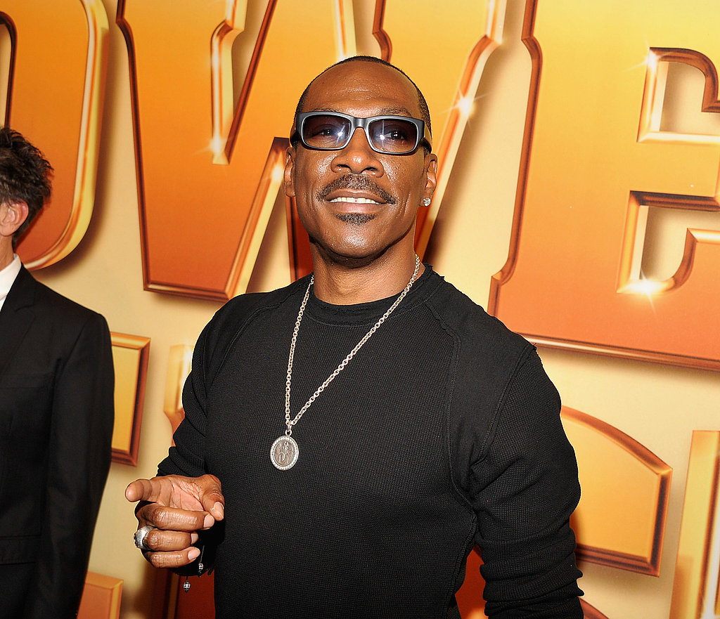 Eddie Murphy pointed at photographers.