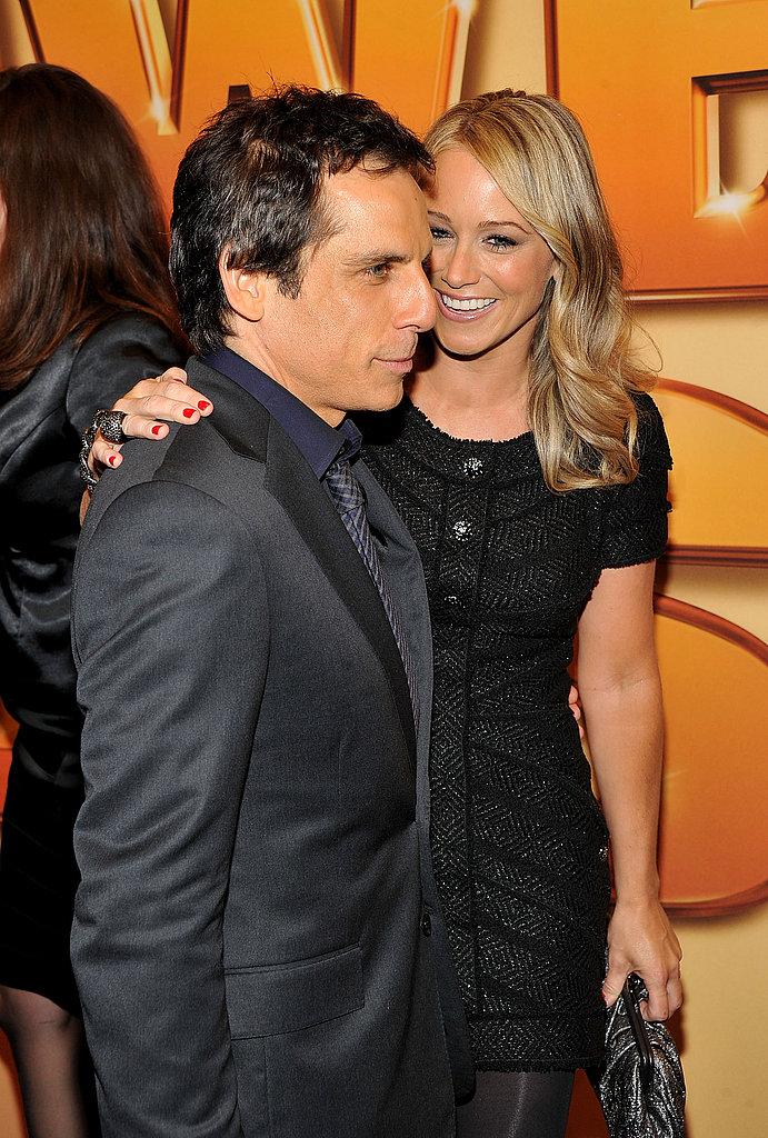 Couple Ben Stiller and Christine Taylor kept close before the screening.