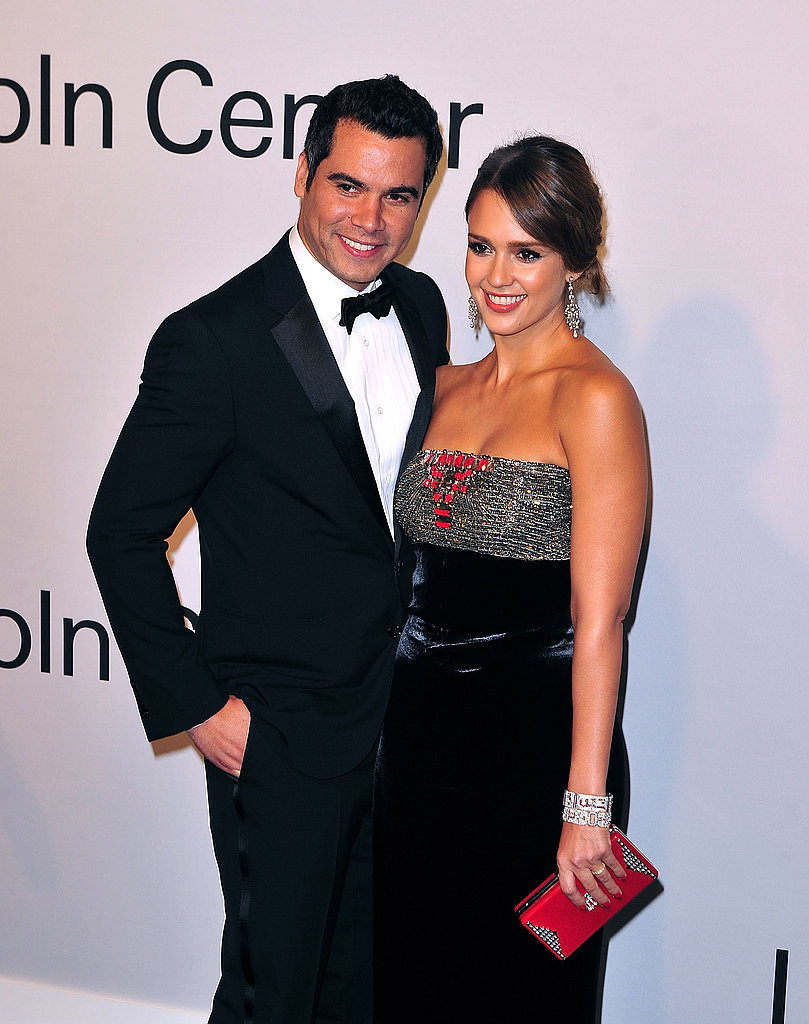 Jessica Alba and Cash Warren at Lincoln Center.