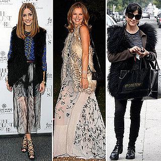 Olivia Palermo, Selma Blair Wearing Fur Vests