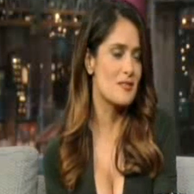 Salma Hayek Talks About Husband on David Letterman