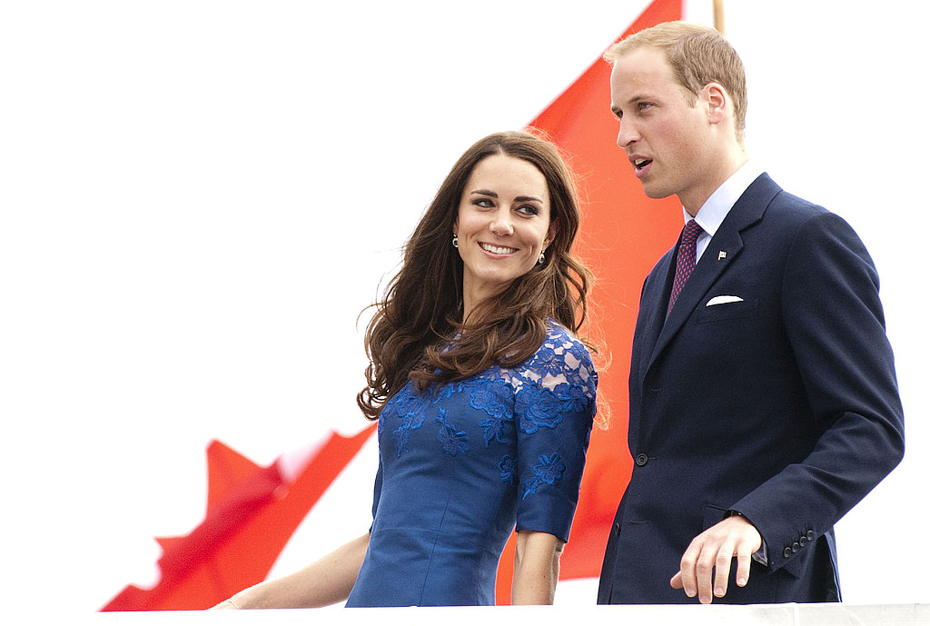 Kate gave William a look of love as they arrived for another stop on their 2011 Canadian tour.