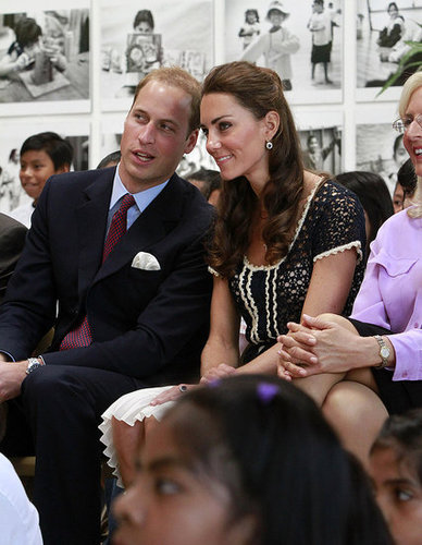 William whispered something to Kate at Inner City Arts in LA during their 2011 visit to North America.