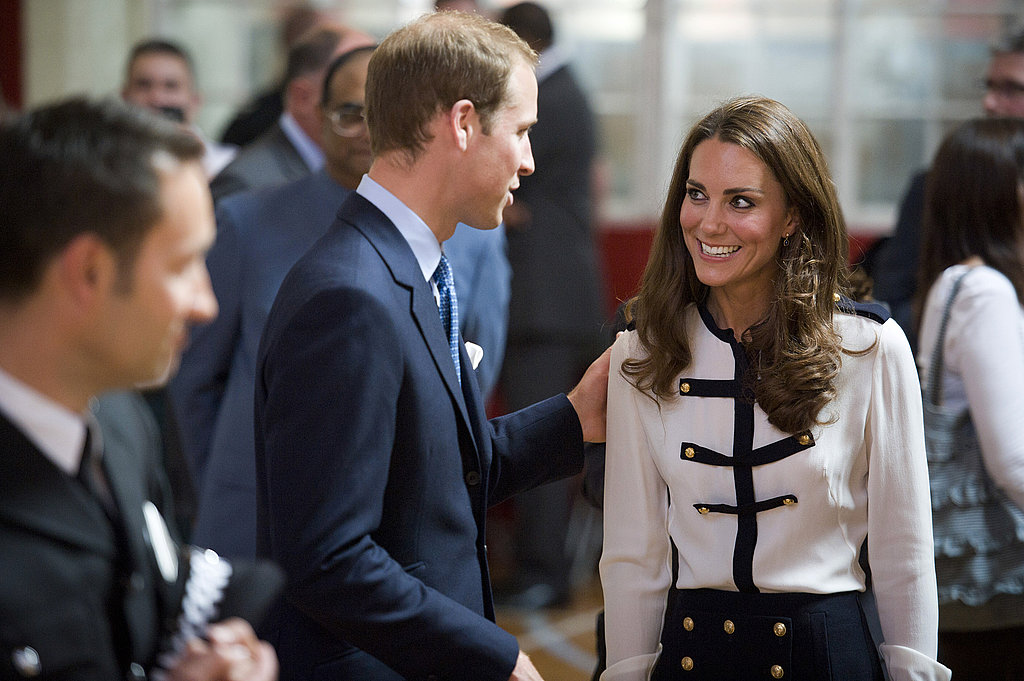 Kate flashed William a smile in London in 2011.