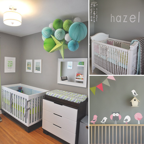 Trendy gray nursery ideas popsugar moms for Baby boy bedroom ideas uk